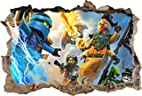 Lego Ninjago Smashed Wall Decal Graphic Wall Sticker Decor Art Mural H447, Large Picture