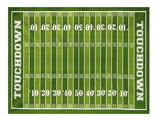 (Football Field Edible Icing Image Cake Topper for 1/4 sheet)