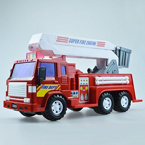 XUERUI 消防車のシミュレーションPpのプラスチック製の子供のおもちゃの車子供のおもちゃの消防車