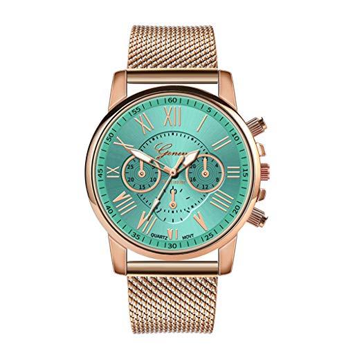 Pocciol Fashion Military Stainless Steel Quartz Watch Womens Casual Watch Luxury Analog Wristwatch (Green) by Pocciol Cheap-Nice Watch (Image #5)