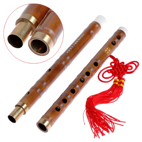 Traditional Handmade Chinese Musical Instrument Bamboo Flute/dizi in F Pluggable