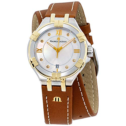 Maurice Lacroix Aikon MOP Dial Leather Strap Ladies Watch AI1006-PVY11-171-1