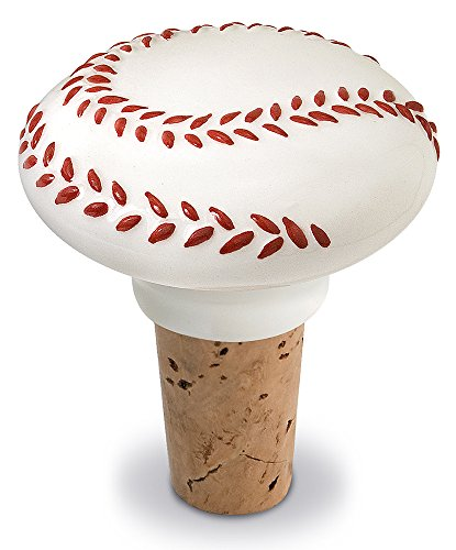 Epic Products Baseball Ceramic Bottle Stopper, 2.25-Inch