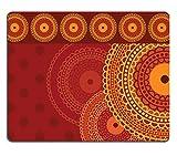 Liili Mouse Pad Natural Rubber Mousepad Colourful Mandala Background Photo 1595144