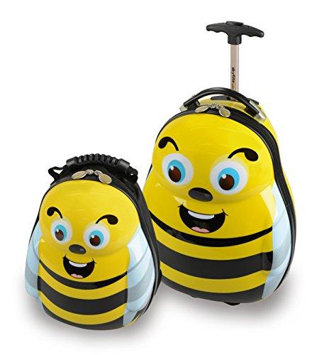 Skykidz maleta Bumblebee de policarbonato con mochila a juego gratuito