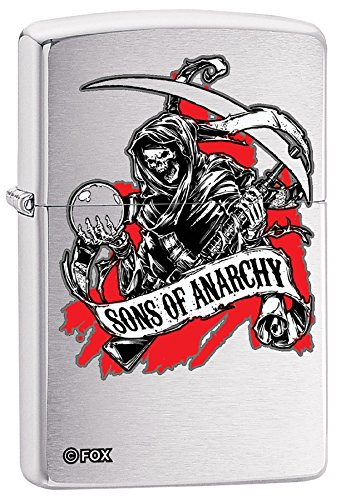 Zippo Personalized Message Engraved on Backside Sons of Anarchy Windproof Lighter (Lighter Sons Anarchy Of Torch)