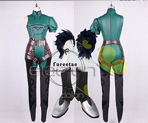 Fate/Zero ランサー コスプレ衣装+手袋+ウィッグ+靴