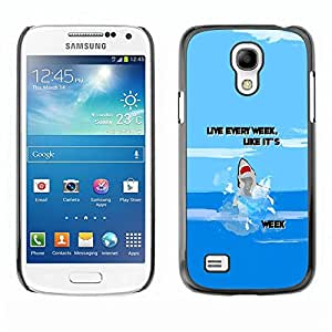 Be Good Phone Accessory // Dura Cáscara cubierta Protectora Caso Carcasa Funda de Protección para Samsung Galaxy S4 Mini i9190 MINI VERSION! // Week Ocean Funny Cartoon Blue