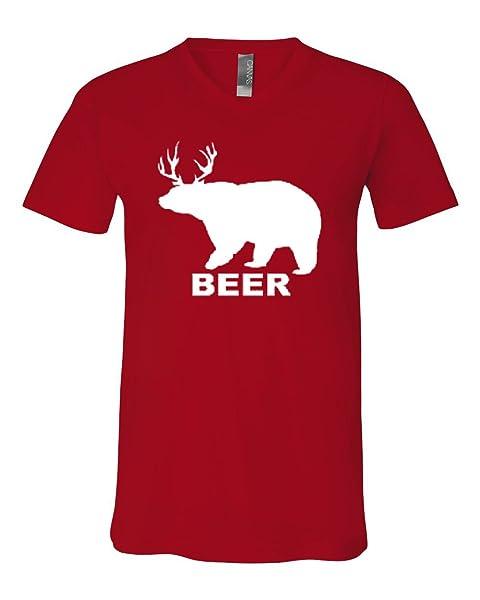 Bear Deer Beer Funny Drinking Beer Tee T Shirt