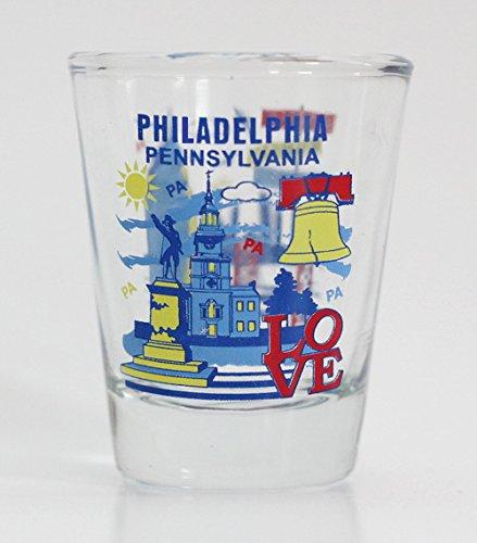 (Philadelphia Attractions Collage Shot Glass)