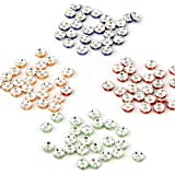 Ecloud Shop Lot 100 Rondelles Perles Intercalaires 6mm 4 Couleurs