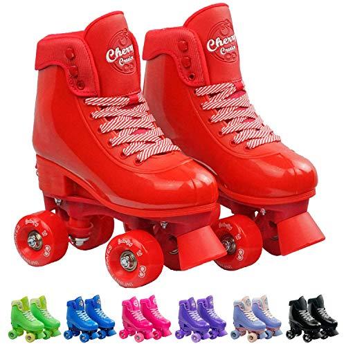 (Infinity Skates Adjustable Roller Skates for Girls and Boys - Soda Pop Series (Red/Medium))