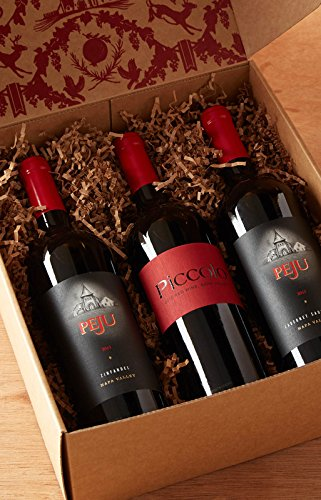 Peju Napa Valley Trio Wine Sampler Gift Set, 3 x 750 mL