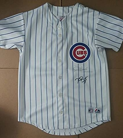best sneakers e4b82 35504 Kris Bryant Ernie Banks Cubs Youth Autographed Jersey with ...