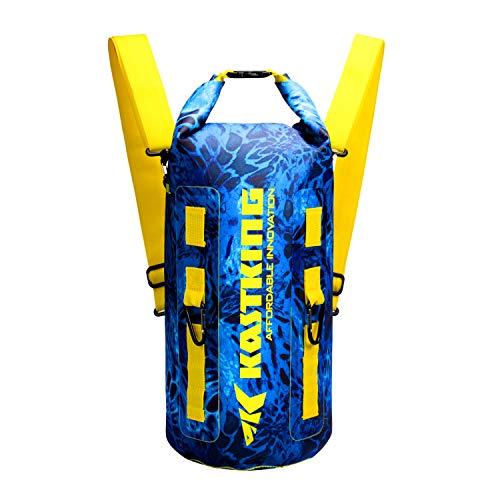 Nylon Jacket Complete - KastKing Downpour Floating Waterproof Dry Bags, Shoreline Backpack, 20L