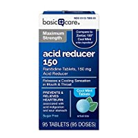 Compare to Zantac 150 Cool Mint active ingredient. Maximum Strength Ranitidine Tablets 150 mg, Cool Mint, active ingredient is 150 mg of ranitidine (as ranitidine hydrochloride 168 mg), an acid reducer that relieves heartburn associated with acid ind...