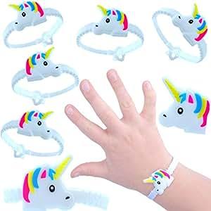 German Trendseller® 6 x pulsera unicornio ┃fiestas infantiles┃ idea de regalo┃piñata┃cumpleaños de niños┃ 6 unidades