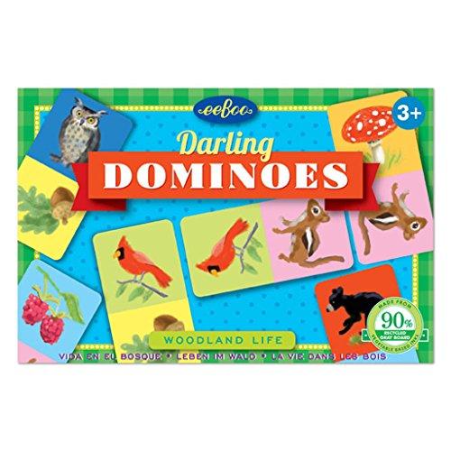 eeBoo Woodland Life Darling Dominoes, Road Trip Travel Game for kids - Eeboo Life