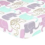 Little-Peanut-Lilac-Purple-and-Gold-Elephants-4-Piece-Baby-Crib-Bedding-Set