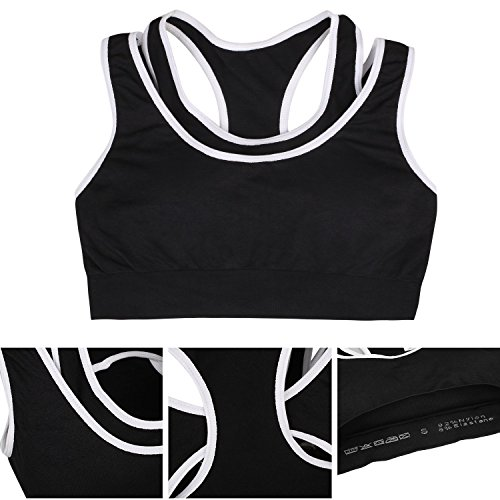 Black White Reggiseno Gray Sportivo S Donna amp;l qOYx6wZ