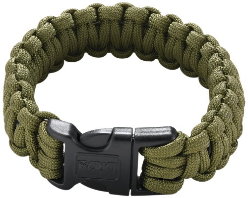 Columbia River Knife and Tool 9300DL Onion  Para-Saw Survival Bracelet, Large, Green, Outdoor Stuffs