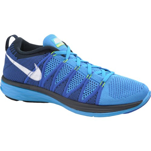 wholesale dealer 5ec5b e63ce Nike Flyknit Lunar2 Mens Running Shoes 620465-414 Vivid Blue White-Game  Royal-Dark Obsidian 12 M US For Sale