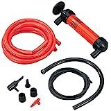 Koehler Enterprises RA990 Multi-Use Siphon Fuel Transfer Pump Kit (for Gas Oil and Liquids), Red