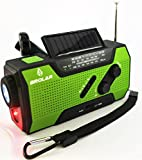 Emergency Solar Hand Crank Radio Self Powered AM/FM - NOAA Weather Radio, Survival LED Flashlight, Smart Phone Charger 2000mAh Power Bank by Brolar