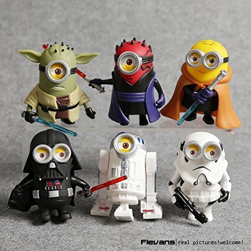 Stars Wars Yoda (10cm 6pcs/lot Q Style Star War Minions Cosplay Darth Vader & Storm & Yoda Trooper Action Figure Model Toy)