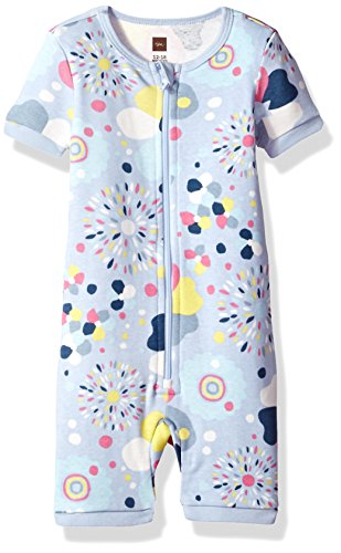 Tea Collection Baby Girls' Emiana Pajamas, Lavender Blue, 6_9 (Clothes Tea Collection)