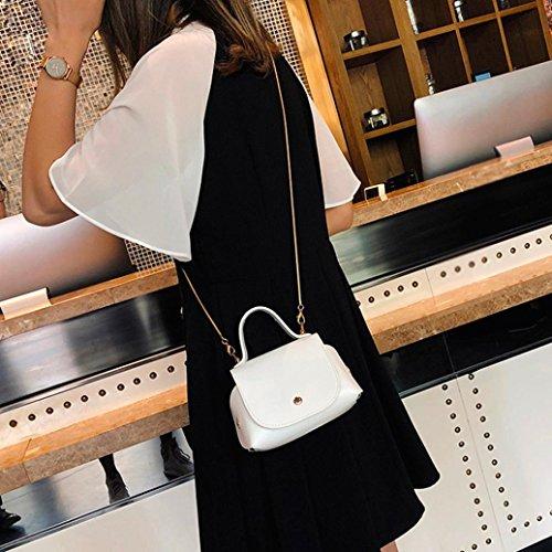 Main à de couleur Femme sac sac bandoulière Blanc sac JIANGfu Sac Femme Mode à messager sac à sac main à main Sac pure mode Cabas femmes cuir bandoulière q6xY8tYI