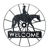 VERDUGO GIFT Cowboy Welcome Sign