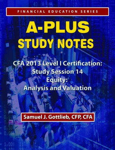 APSN CFA 2013 Level 1 Study Session Equity Analysis and Valuation