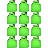 BlueDot Trading Adult Sports Pinnies Scrimmage Training Vests (12-Pack)