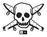 Fourstar Pirate Skull & Bones / Boards Skateboard Sticker