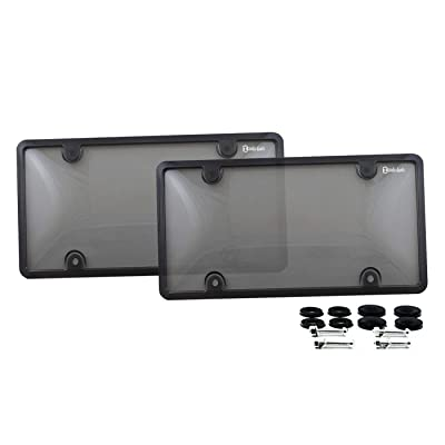 Zento Deals Unbreakable License Plate Frame 2 Pack Universal Fit Novelty Plate Covers: Automotive
