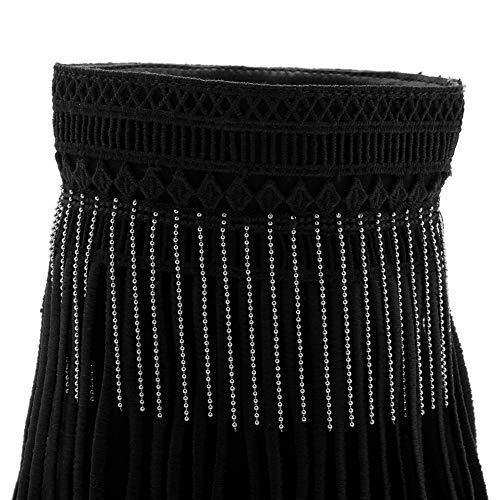 1to9 Sandalias Negro Con Cuña Mujer Mns02891 vpqxH5wrv