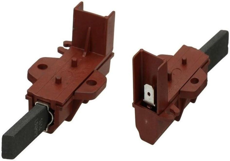 Ariston Indesit 1 par escobillas carbón Motor Lavadora Originales ...