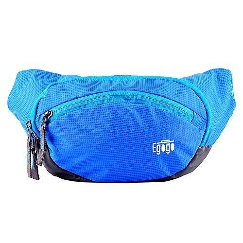 EGOGO Travel Sport Fanny Pack Waist Bag (Blue)