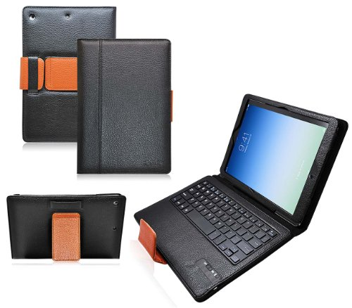 Ionic Bluetooth Keyboard Tablet Stand Leather Case for iPad Air