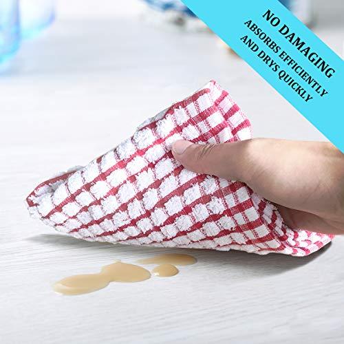 LAZI Kitchen Dish Towels, 16 Inch x 25 Inch Bulk Cotton Kitchen Towels and Dishcloths Set, 6 Pack Dish Cloths for…