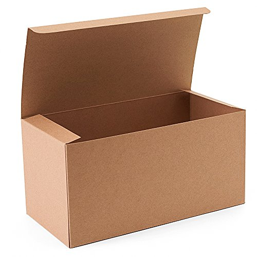 GSSUSA 9x4.5x4.5 Inches 10PCS Gift Boxes Brown Kraft Paper Boxes for Party, Birthday, Wedding, Gift -