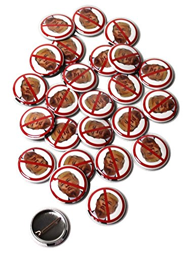 Mini Badge Pin (No Anti Donald Trump Presidential Campaign 2016 Pinback Buttons - 1 Inch Round - 25 Pack)