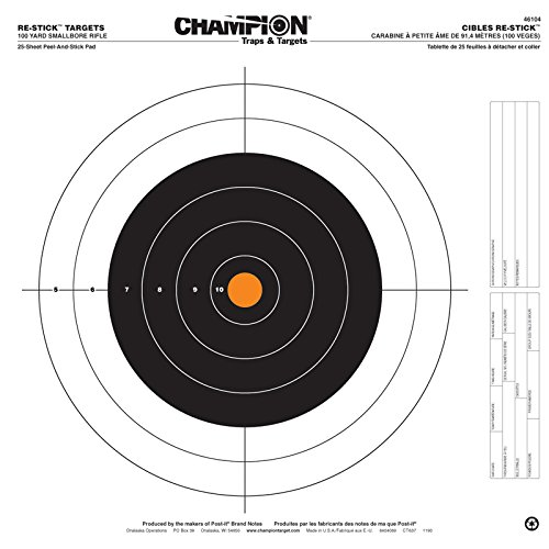 - Champion Traps and Targets Re-Stick 100 Yard Small Bore Rifle Target (16 x 16)