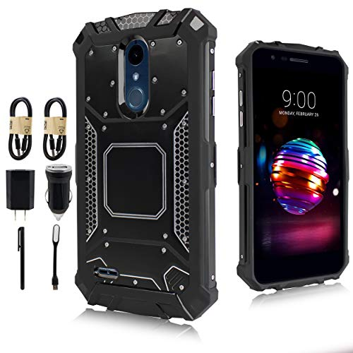 LG Stylo 4 Case, LG Q Stylo Case, Feather Light Aluminum Metal Rugged Cover, Composite Case for LG Stylo 4 Plus/LG Stylus 4 [Value Bundle] ()