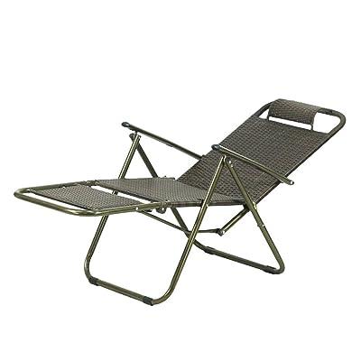 PU Silla de la cama del dormitorio, silla perezosa del estudiante, vestuario del dormitorio de la universidad Balcón Silla de respaldo cómoda al aire libre informal Sillas de sol de la silla plegable: Bricolaje y herramientas