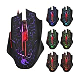 Professional Wired Gaming Mouse 5500DPI Adjustable 6 Buttons Cable USB LED Optical Gamer