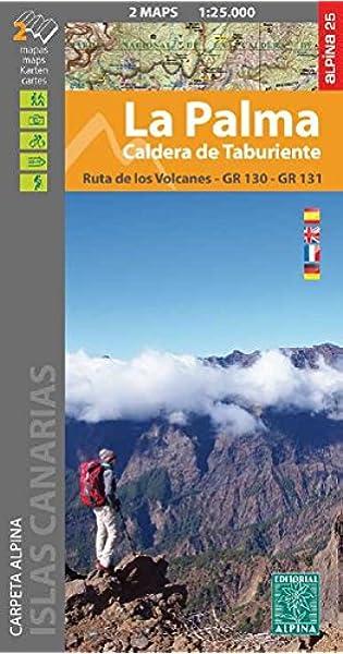 La Palma. Caldera de Taburiente. 2 mapas. Ruta de los volcanes. GR ...
