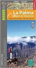 La Palma. Caldera de Taburiente. 2 mapas. Ruta de los volcanes. GR 130 y GR 131. Alpina.