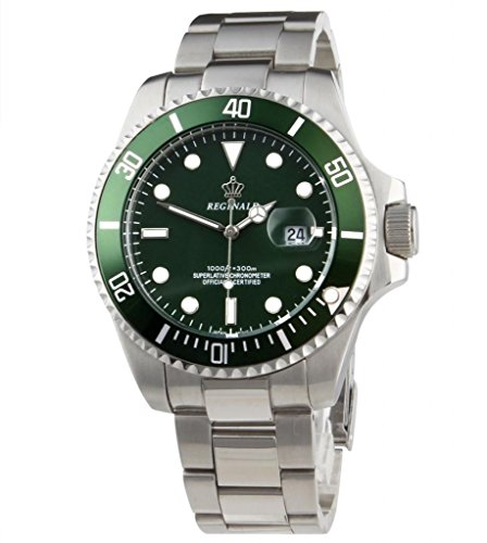 Mastop Green Dial Rotatable Bezel Luminous Hand Quartz Men's Ladies Silver Stainless Steel Watches (Green Dial Bezel compare prices)